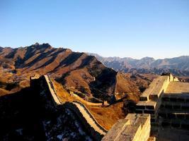 grote muur van china in de winter foto