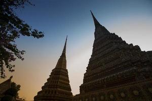 silhouet van pagode foto