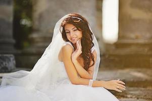 portret van mooie bruid. foto