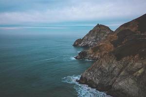 schilderachtig uitzicht grijze walvis inham foto