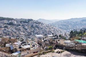 skyline in Jeruzalem foto