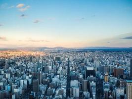 luchtfoto van nagoya stad in japan foto