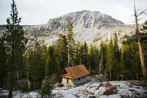 hut in de Alpen