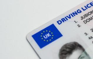 Brits rijbewijs foto