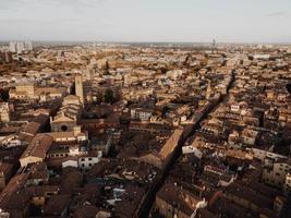 vogelvlucht van de Italiaanse stad foto