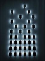 verlichte vierkante lichten foto