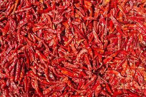 gedroogde rode paprika's foto