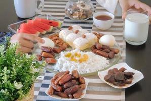 ramadan halal maaltijd foto