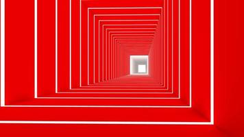 3D render van rode rechthoek