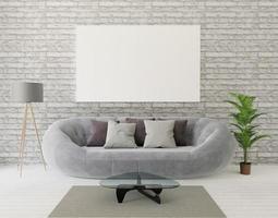3D-weergave van loft een woonkamer