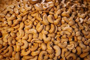 gezouten geroosterde cashewnoten foto