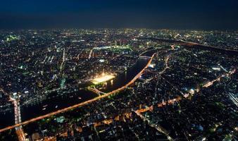 luchtfoto van de stad foto