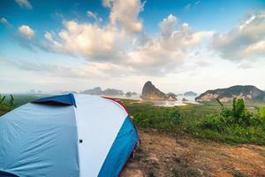 tent in nationaal park