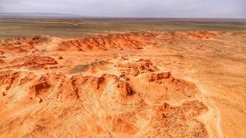 luchtfoto van woestijn canyons foto