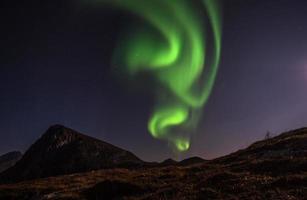 aurora borealis licht op lofoten foto