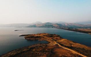 luchtfoto van een eiland
