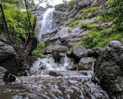 waterval van onderen