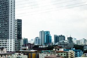 skyline van de stad gebouwen