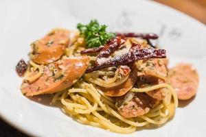 pasta met Duitse worst
