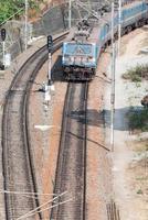 stationair draaiende elektrische locomotieven foto