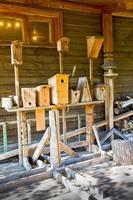 houten vogelhuisje foto
