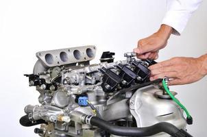 ontwikkeling van automotoren foto