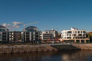 ontwikkeling van moderne gebouwen in Magdeburg, Duitsland