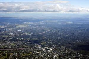 luchtfoto van de subirbs foto