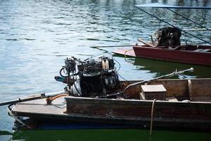 motor van het schip. foto