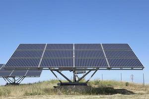 zonne-fotovoltaïsche panelen veld foto