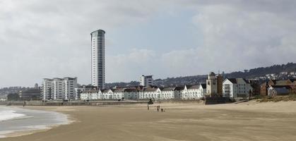 appartementen aan het strand - Swansea City foto