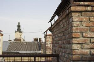 uitzicht op de kathedraal vanaf de hoogte foto