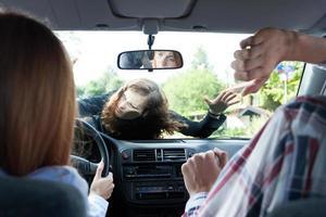 auto-ongeluk met voetganger foto