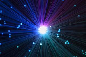 blauwe, rode en groene optische vezels