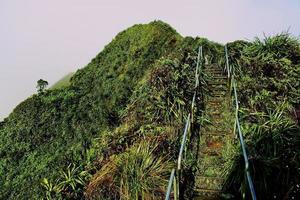 trappen een heuvel op foto