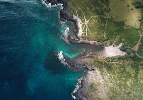 luchtfoto van waterlichaam