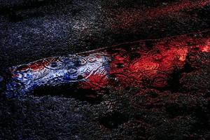 blauwe en rode reflectie foto