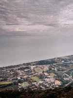 luchtfoto van stadsgezicht foto