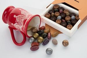 chocolaatjes voor kerstdag foto