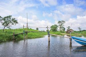 landschap in de ayeyarwaddy-regio in myanmar foto