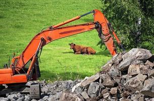 vernietiging van platteland foto