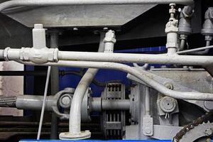 mechanische onderdelen van de oude motor foto