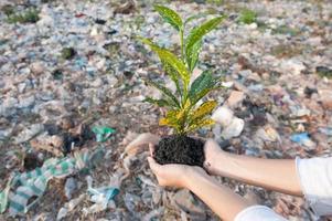 Red het milieu foto