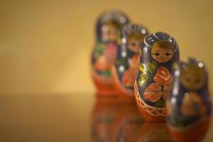 matryoshka-poppen, oud beeld. foto