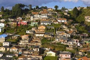pittoreske sloppenwijk achtergrond foto