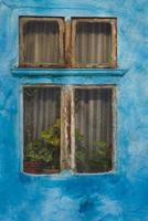 blauw venster foto