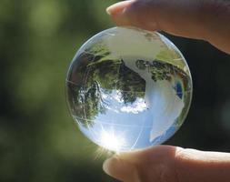 wereld milieu concept foto