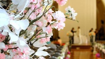 indoor bruiloft decoraties foto