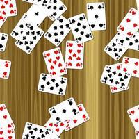 speelkaarten op het dek naadloze gegenereerde hires textuur foto