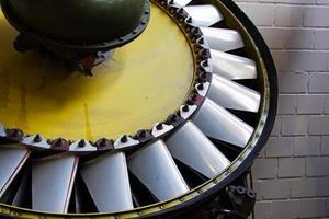 mechanische onderdelen van de oude turbinemotor foto